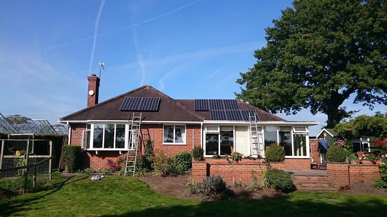 3.9kw Solar Panel Installation in Congleton