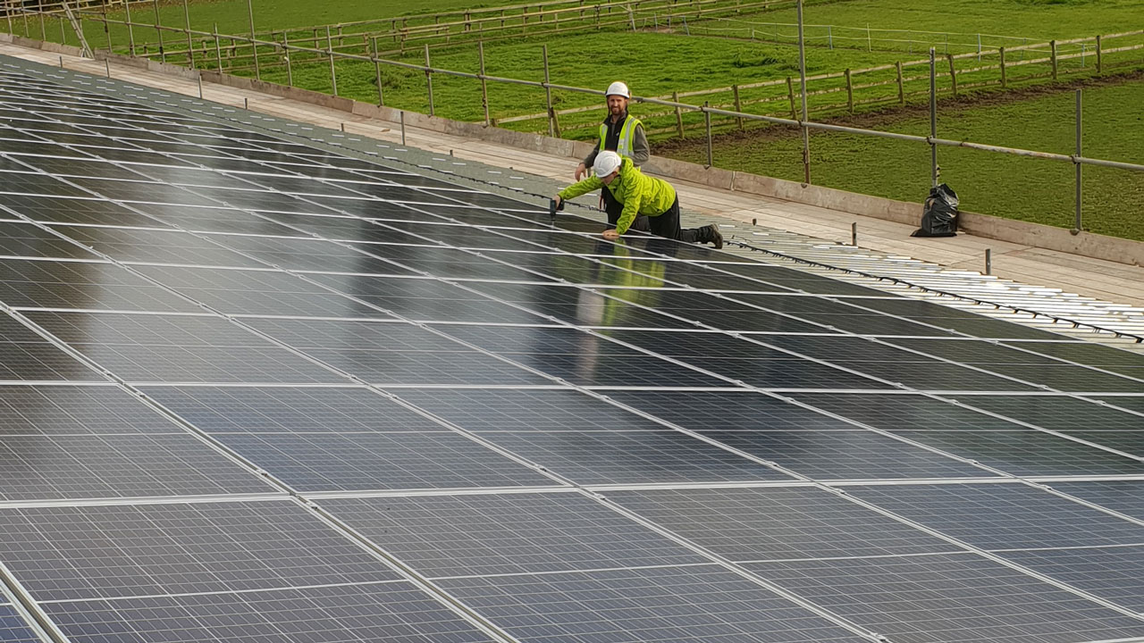 Cheshire Industrial Business Unit 86 kWp Solar Installation