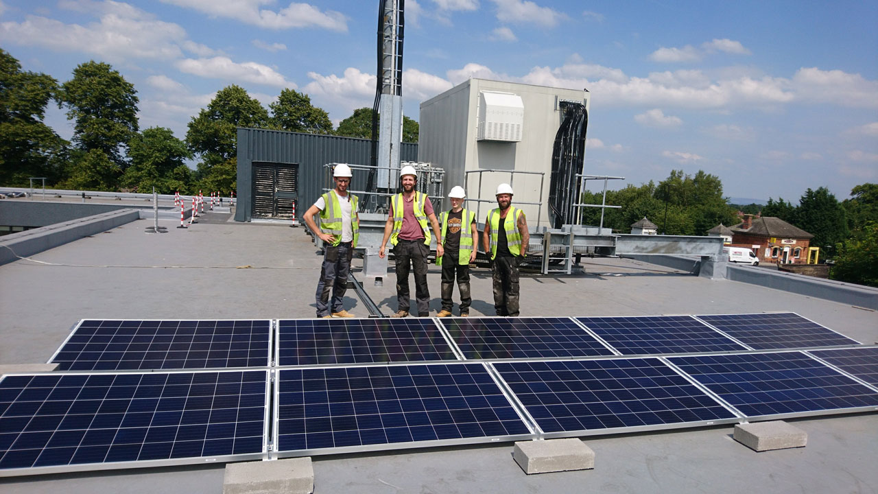 Flat Roof Solar Array Successfully Installed on Manchester Apartment Complex