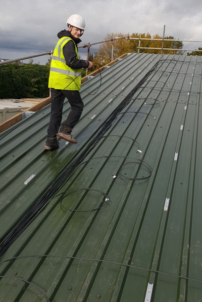 Cheshire Farm Roof Cabling