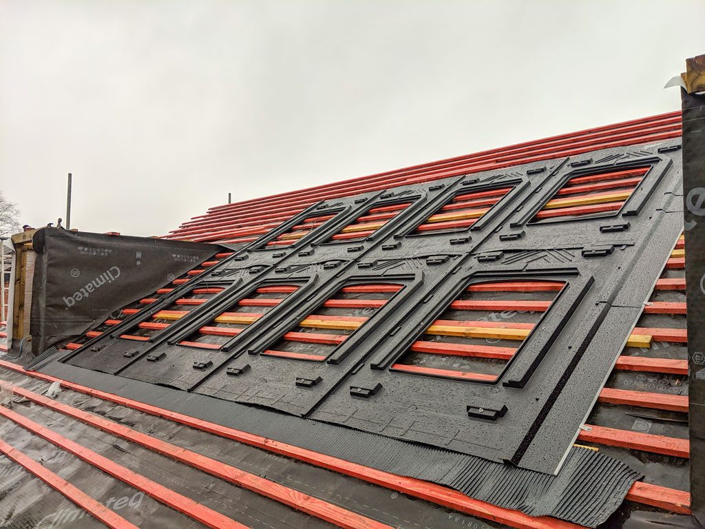 In-roof Integrated Solar Panel racking Manchester